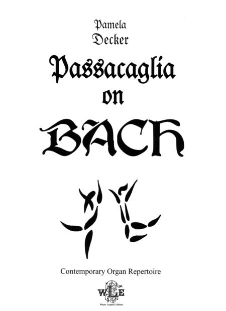 Passacaglia on BACH