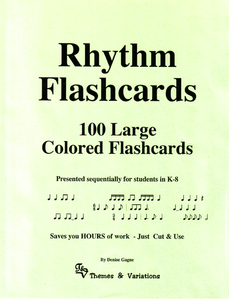 Flash Cards - Rhythm