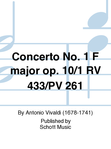 Concerto No. 1 F major op. 10/1 RV 433/PV 261