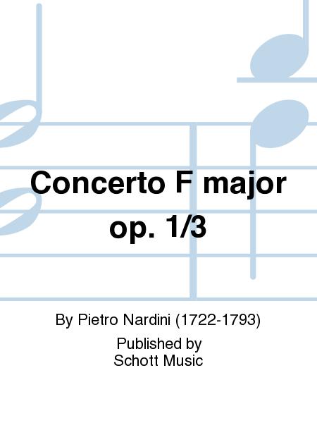 Concerto F major op. 1/3