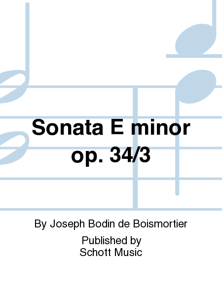 Sonata E minor op. 34/3