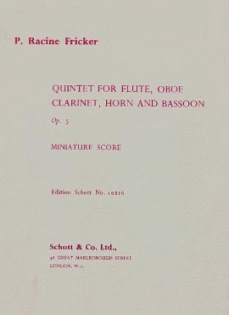 Wind Quintet op. 5