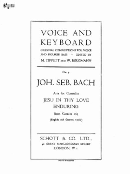 Jesu in thy love enduring BWV 165