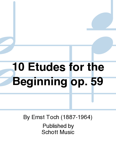 10 Etudes for the Beginning op. 59