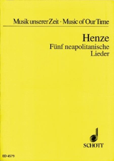 Funf Neapolitanische Lieder