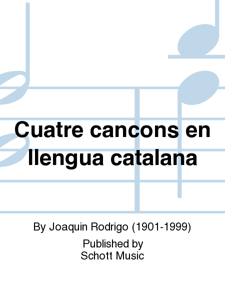 Cuatre cancons en llengua catalana