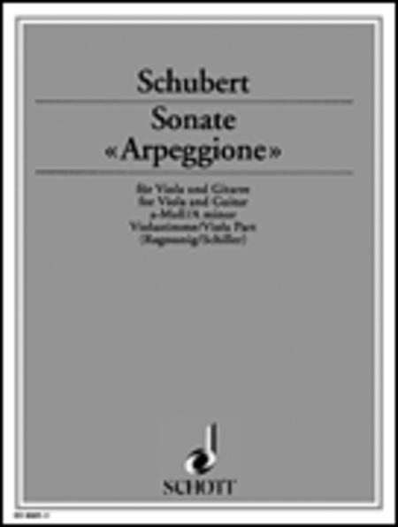 Sonate Arpeggione in A Minor, D 821 - Viola Part