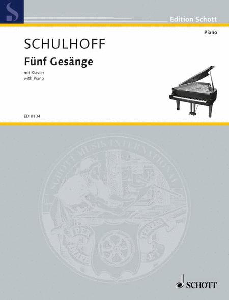 Funf Gesange mit Klavier