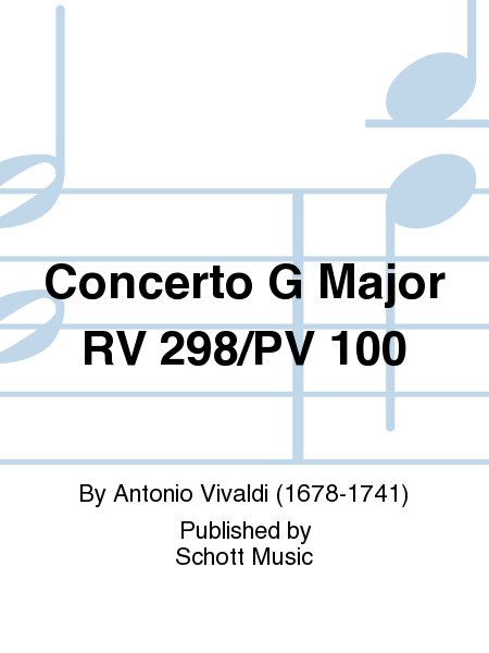Concerto G Major RV 298/PV 100