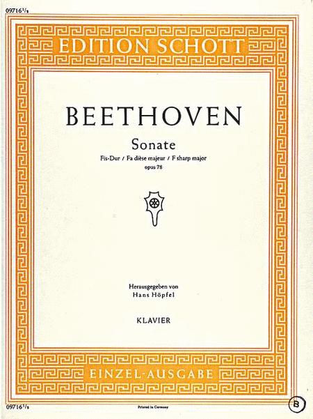 Sonata F# Major op. 78