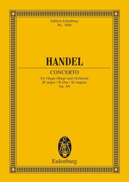 Organ concerto No. 6 B major op. 4/6 HWV 294