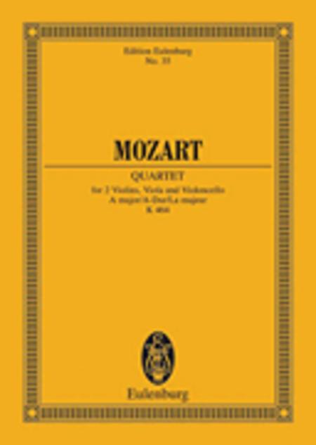 String Quartet A major KV 464