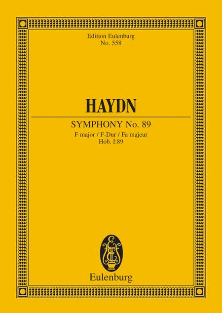 Symphony No. 89 F major Hob. I: 89
