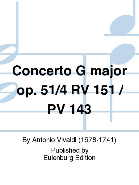 Concerto G major op. 51/4 RV 151 / PV 143