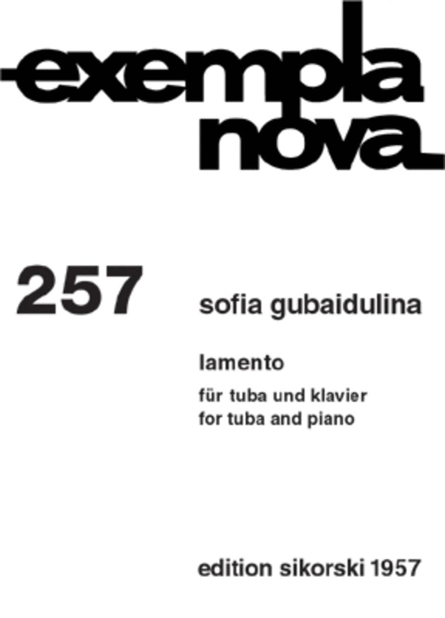 lamento fur tuba und klavier (1977)