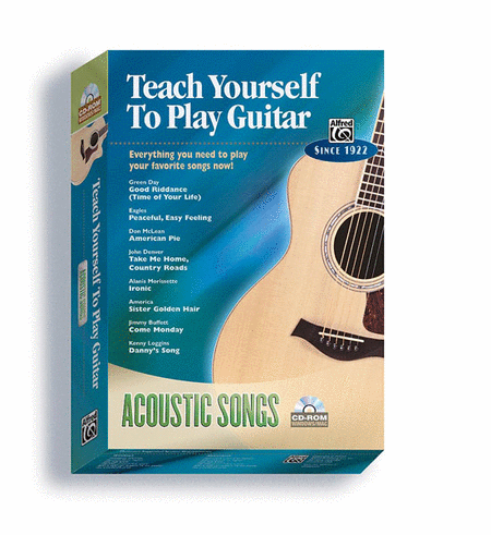 Alfred's Teach Yourself to Play Guitar -- Acoustic Songs