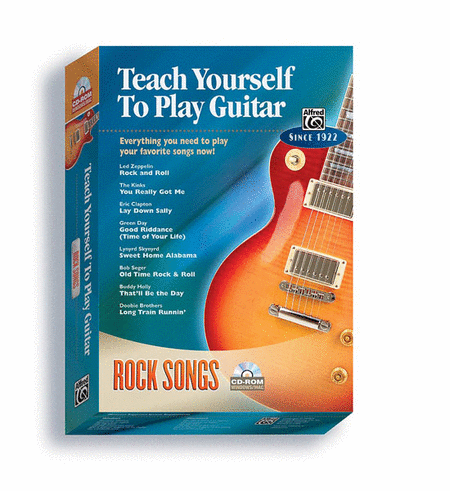 Alfred's Teach Yourself to Play Guitar -- Rock Songs