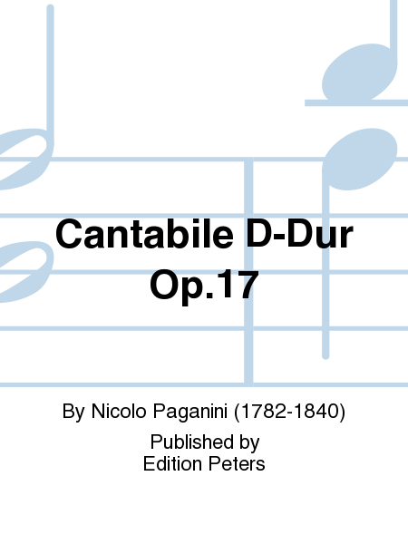 Cantabile D-Dur Op. 17