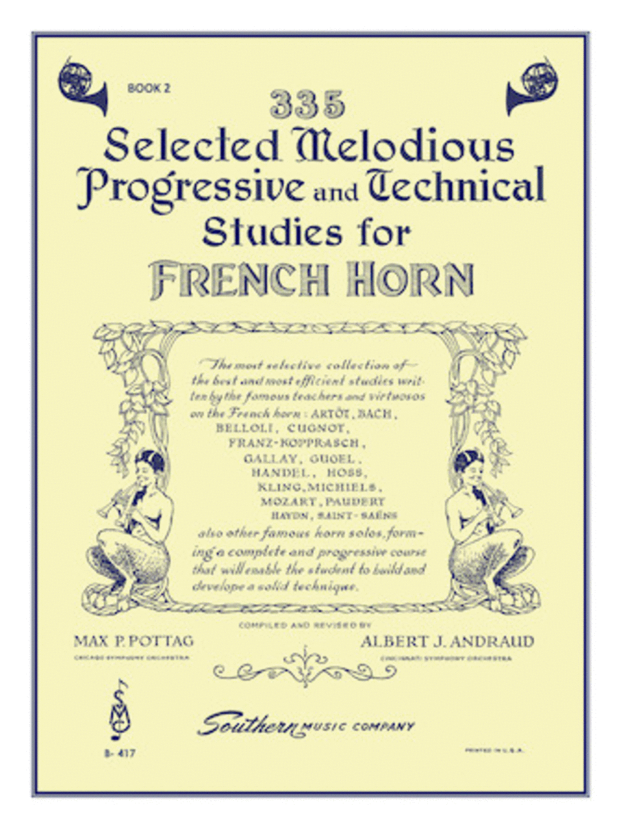 335 Selected Melodious, Progressive and Technical Studies - Book 2