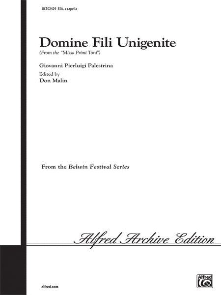 Domine Fili Unigenite (from Missa Primi Toni)