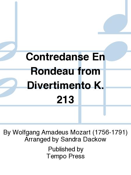 Contredanse En Rondeau from Divertimento K. 213