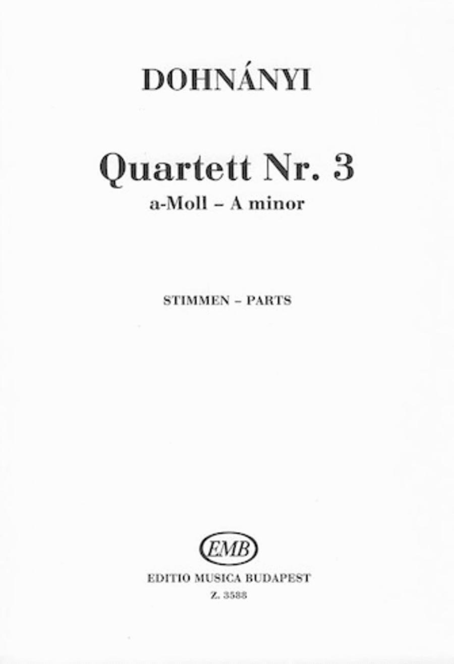 String Quartet #3-pts