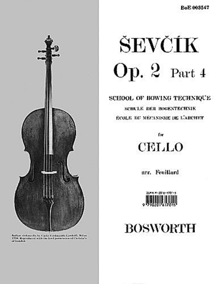 Sevcik for Cello - Opus 2, Part 4