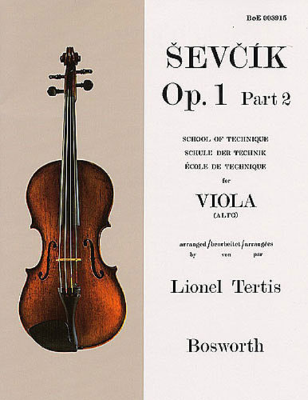 Sevcik Viola Studies: School Of Technique Part 2