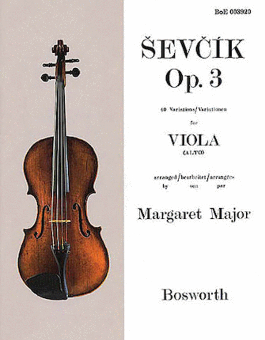 Sevcik for Viola - Opus 3