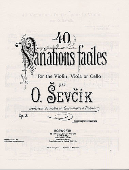 Sevcik Violin Studies: 40 Variations