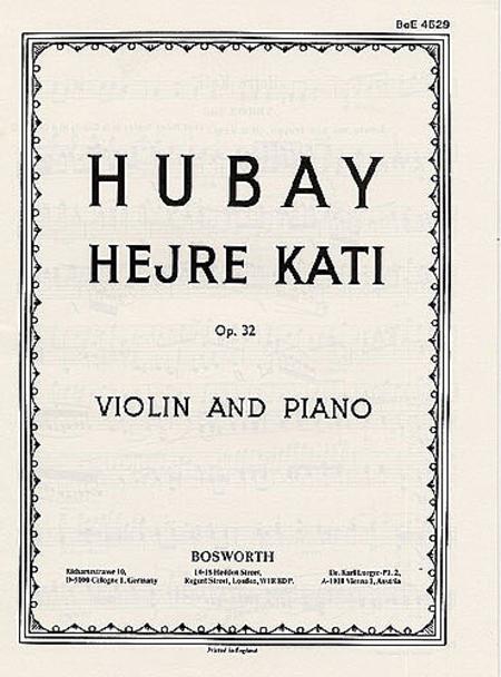 Jeno Hubay: Hejre Kati Op.32 (Violin/Piano)