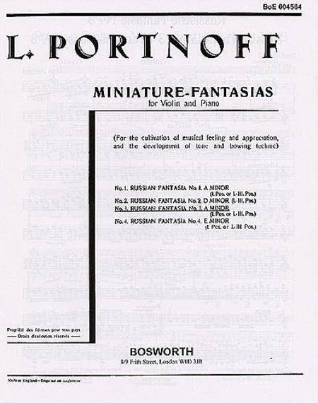 Russian Fantasia No. 3 in A Minor