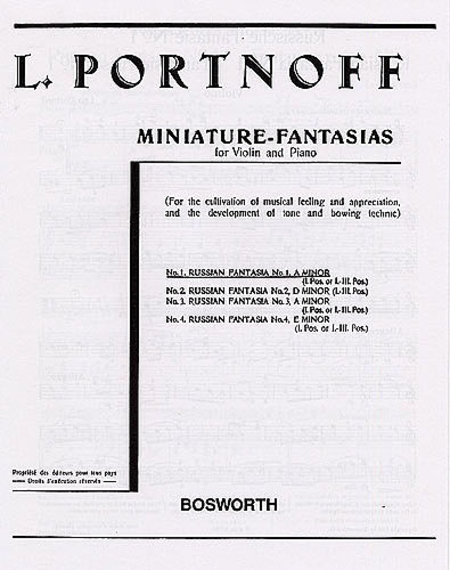 Russian Fantasia No.1 in A Minor