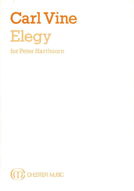 Carl Vine: Elegy (Study Score)