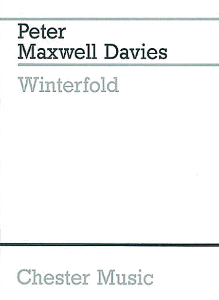 Peter Maxwell Davies: Threnody On A Plainsong For Michael Vyner
