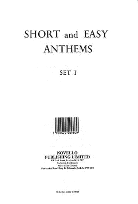 Short and Easy Anthems - Set 1