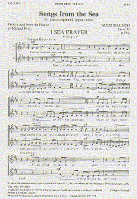 Songs from the Sea, Op.33