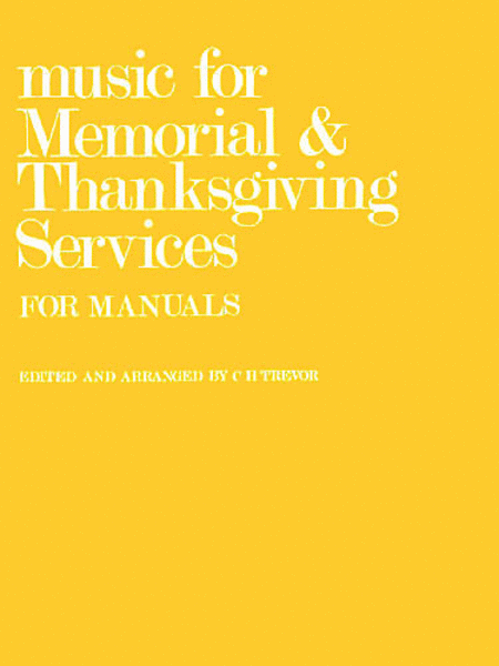 Music for Memorial and Thanksgiving Services