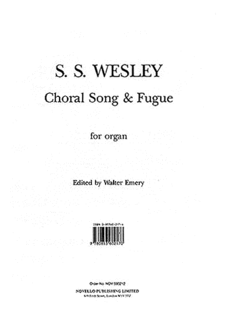 Samuel Sebastian Wesley: Choral Song And Fugue