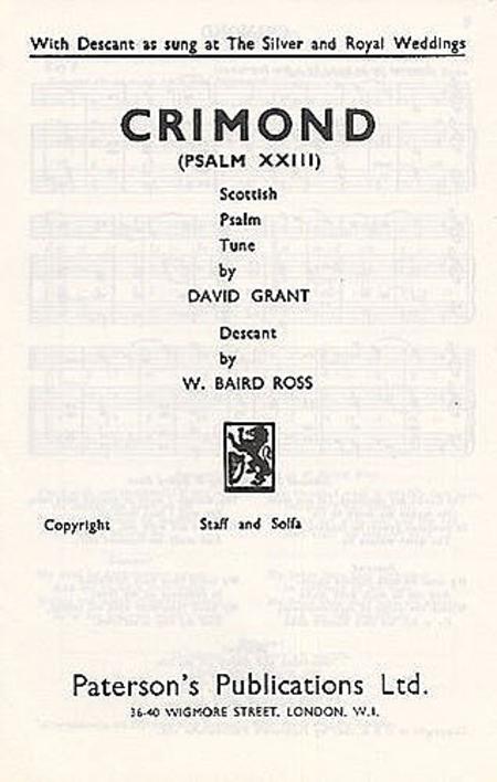David Grant: Crimond (Psalm 23)
