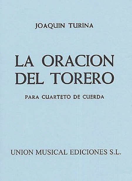 Turina La Oracion Del Torero M/s