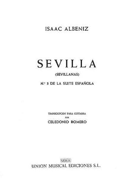 Albeniz Sevilla Sevillanas No.3 De La Suite Espanola (romero) Gtr