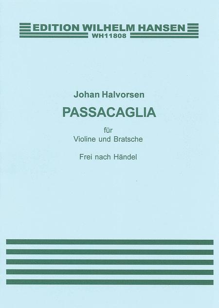 G.F. Handel/Johan Halvorsen: Passacaglia In G Minor For Violin And Viola (Score/Parts)