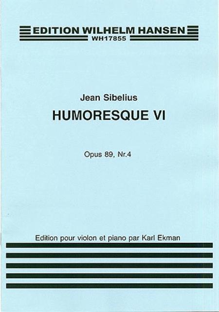 Jean Sibelius: Humoresque No.6 Op.89 no.4