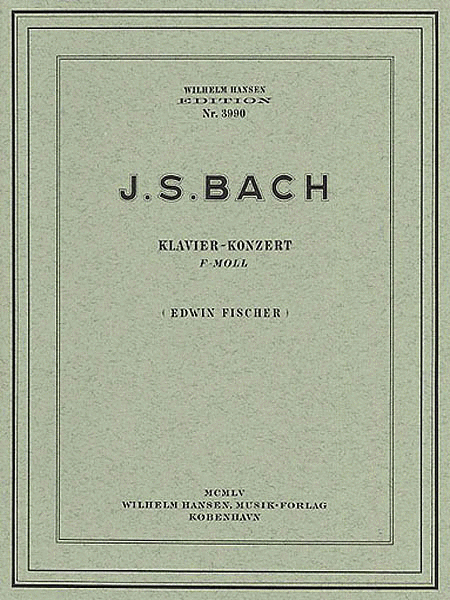JS Bach: Piano Concerto In F Minor (Two Pianos)