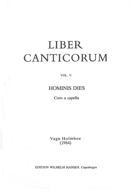 Vagn Holmboe: Hominis Dies Op.158a (Liber Canticorum Va)