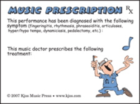 Music Prescription Post-it Notes