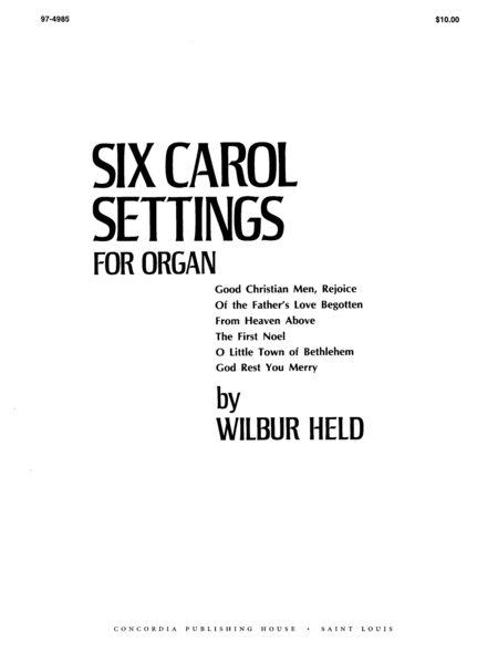 Six Carol Settings