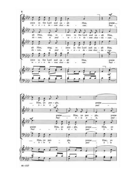 Exultate Justi (Sing, Ye Righteous)