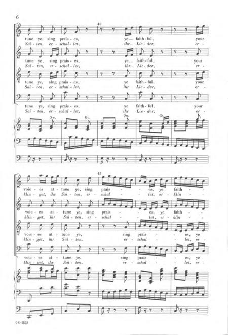 Erschallet, ihr Lieder (Sing Praises, Ye Faithful)